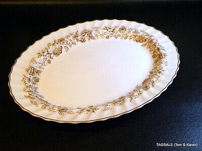 ROYAL DOULTON bone china  MAYFAIR BROWN  pattern ~ Large Platter ~ 16