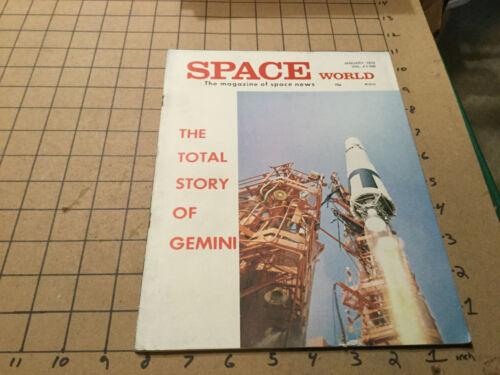HIGH GRADE -unread-  SPACE WORLD Magazine - jan 1973 - GEMINI telemetry PROGNOZ