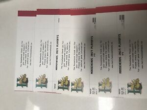 6 lower bowl Moosehead tickets to tonight's game