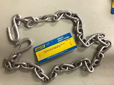 """TRAILER SAFETY CHAINS SEACHOICE 51281 1/4"""" X 42"""" CLASS III GALVANIZED BOAT PARTS"""