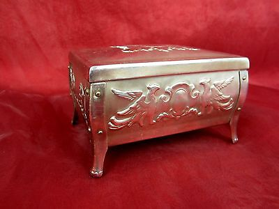 Beautiful Casket Made of Metal Steel Poland with Eagle Motif Metal Box