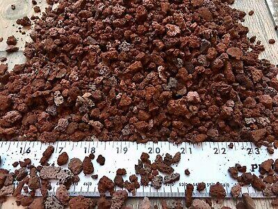 3 Gallon SM-MED Red Lava Cinder Rock For Cactus Bonsai Succulent Plant Soil Mix