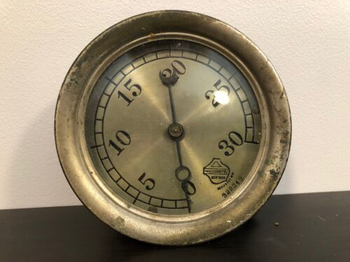 Old Vtg THE ASHCROFT MANUFACTURING CO.Industrial Gauge #322349 New York NY USA