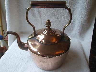 Large Antique Copper & Brass Kettle -  William Soutter & Sons 1907. Art Nouveau