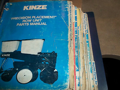 Older Kinze Planters Service Manuals
