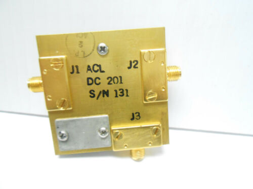DC201 DIRECTIONAL COUPLER AIKEN SMA GOLD PLATED NEW OLD STOCK