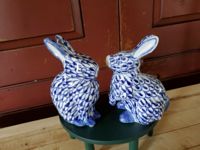 Bunnies .Porcelain..