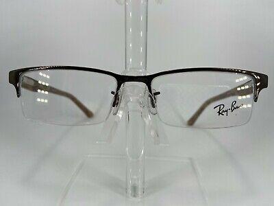 RayBan RB6196 Men's Semi Rimless Eyeglass Frame 2664 Brown 52-17 (Mens Semi Rimless Frames)