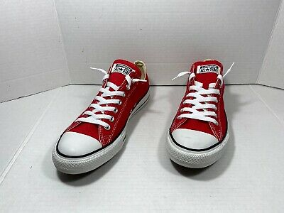 Converse All Star Chuck Taylor OX Red White M9696 Sz 9.5