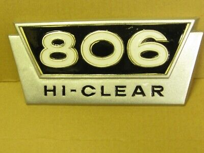 Original Ih Ihc International Harvester Farmall 806 Hi-clear Emblem 382867r1