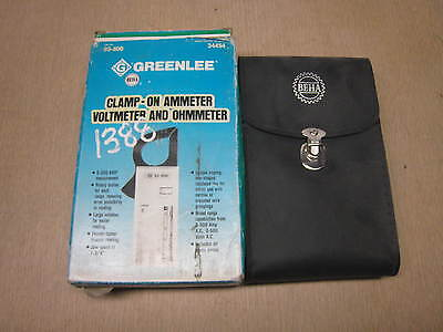 New Greenlee Beha Model 93-800 Dig Clamp Meter Free Shipping