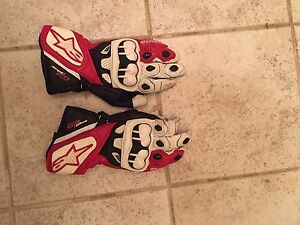 Alpine star leather gloves for the track