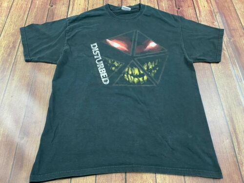 Disturbed Men's Black T-Shirt - Large - Hard Rock