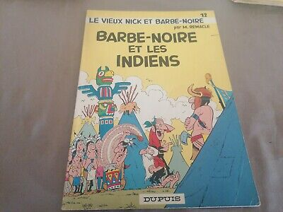 ancienne bd - les aventure du vieux nick-  barbe noir et les indiens