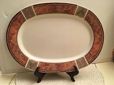 """PFALTZGRAFF HOLIDAY SPICE 14.5"""" OVAL SERVING PLATTER  Christmas Dinner Oval Spice"""