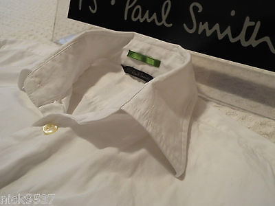"""PAUL SMITH Mens Shirt 🌍 Size S (CHEST 40"""") 🌎 RRP £95+ 🌏 LARGE FLORAL STITCHES"""