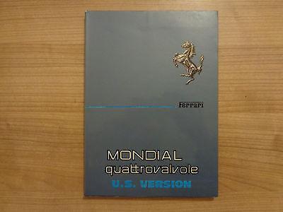 Ferrari Mondial Quattrovalvole Owners Handbook/Manual U.S Version