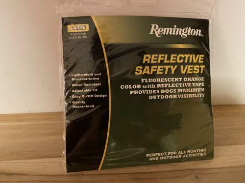 Remington Dog Reflective Orange Safety Vest Size Large 50 Lbs - $10.39