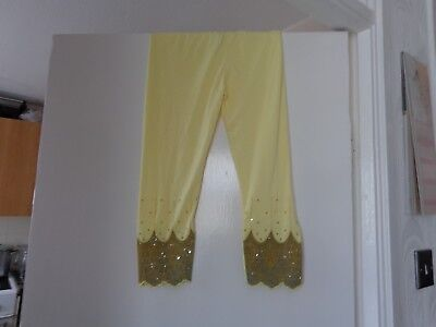 yellow gold beaded leggings one size