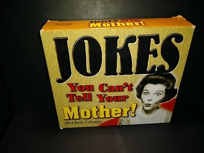 Jokes You Cant Tell Your Mother 2014 Daily Desk Calendar Brand New B192