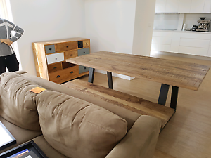 Brand New UNIQUE  Timber Dining Table and Bench - Ozdesign Drummoyne Canada Bay Area Preview
