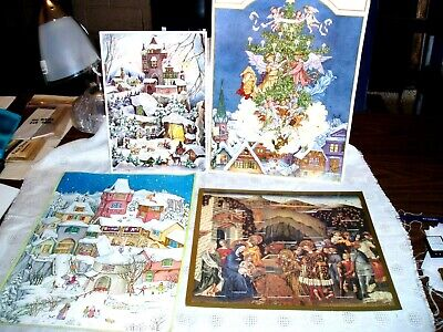 Vintage LOT OF 4 ADVENT CHRISTMAS CALENDARS, Museum of Art, W. Germany, Germany