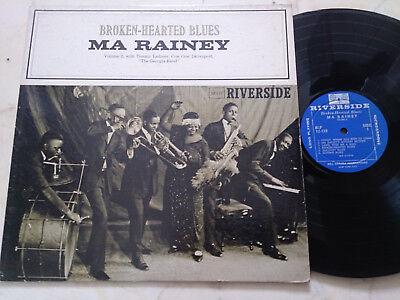 MA RAINEY Broken-Hearted Blues *ORIGINAL US RIVERSIDE MONO PRESS DEEPGROOVE LP*