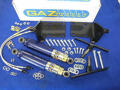 MGB NEW GAZ FRONT  REAR SHOCK ABSORBER KIT WITH BRACKETS ALL MODELS