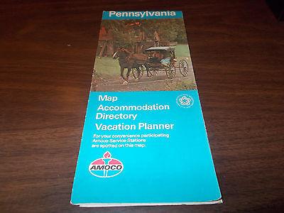 1976 Amoco Pennsylvania Vintage Road Map