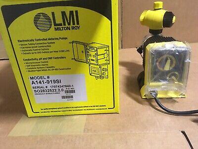 Lmi Chemical Metering Pump A141-919si .5 Gph 250 Psi Acrylicpvdf Manual Control