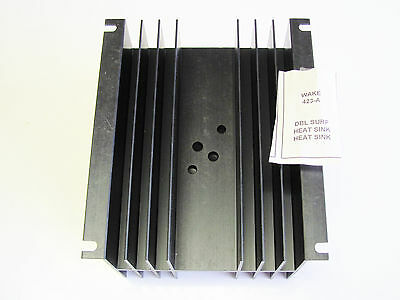 Wakefield 423-a Double Surface Heat Sink To-3 Black Anodize 5-12 X 2.6