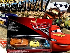 Disney Pixar Cars 3 Set McQueen als (Chester Whipplefilter) + Guido & Luigi 2017