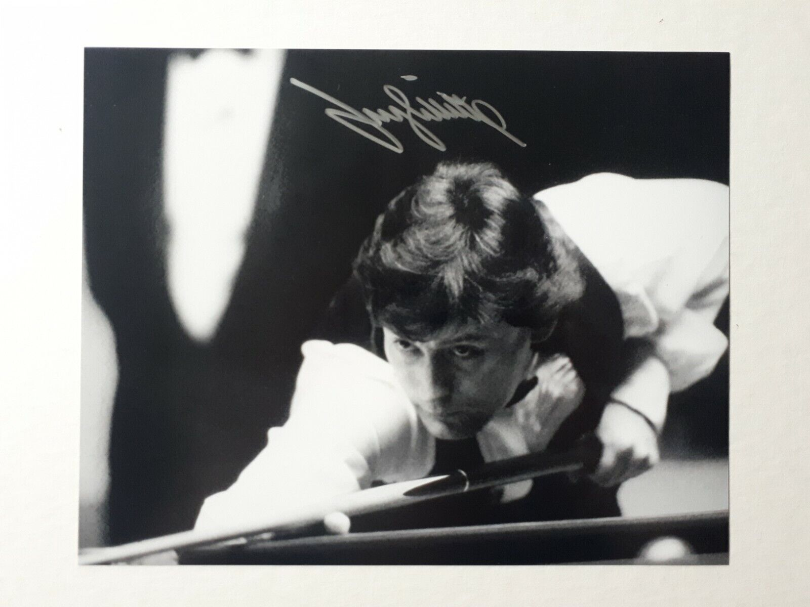 Jimmy White Genuine Signed 10x8 BandW Photo, Crucible, Snooker, The Whirlwind