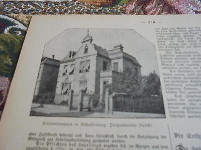 1901 Baugewerkszeitung 49  / Aschaffenburg Einfamilienhaus