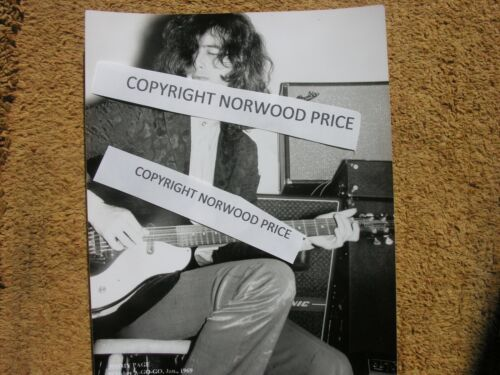 Led Zeppelin Jimmy Page Concert Photo 1969  8 x 10 Original Negative Used