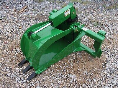 Heavy Duty Stump Bucket Attachment With Teeth Fits John Deere Tractor Loader
