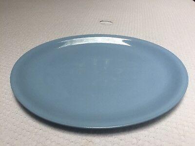 """Vintage Homer Laughlin Jubilee Skytone Kraft Blue Huge 15"""" Platter Solid Blue"""