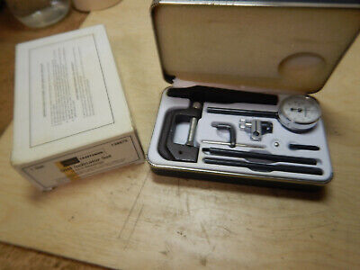 Vintage Sears Craftsman Dial Test Indicator With Attachments And Case