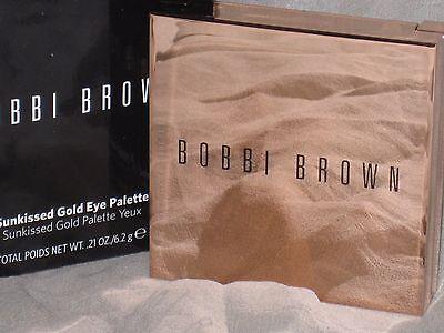NIB LED BOBBI BROWN 4 COLOR SUNKISSED GOLD EYE PALETTE, HOLIDAY 2016