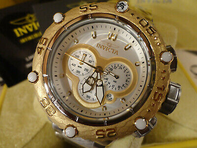 Invicta 31575 51.2mm Subaqua Noma VI Gold Tone Quartz Chrono Bracelet Watch NEW!