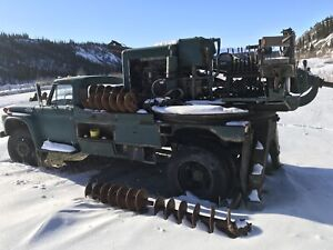 Collectors Auger Drill truck.