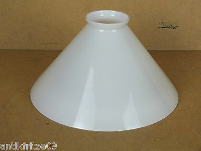 Lampenschirm E14 E27 Glasschirm weiß Antik Stil konisch für Wandlampe Hängelampe