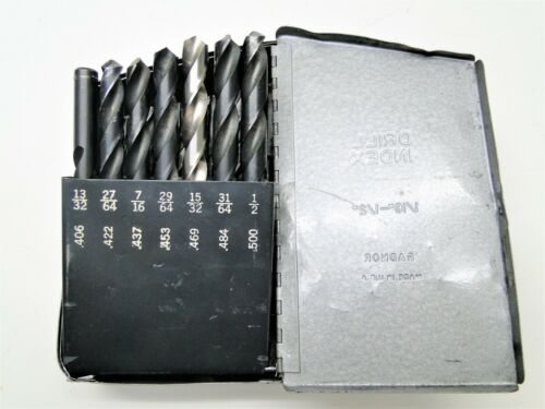 "29 Piece Assorted Surplus 1/16"" - 1/2"" HS USA  Drill Set"