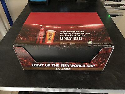 BUDWEISER FOOTBALL noise activated  Light up the World Cup (Case of 12 new) - Noise Activated Light