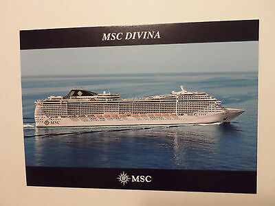 Ms Msc Divina   Ships Stamp Mediterranean Shipping Co   Italy Cruise Boat Ship