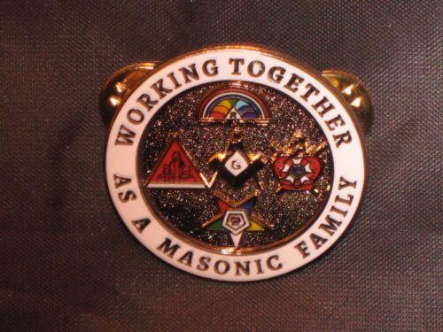 Masonic Family Lapel Tac Pin Demolay Rainbow Girls OES Job