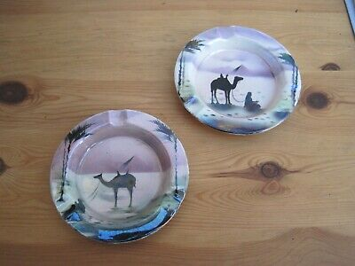 Pair of Grimwades ashtrays Egyptian style in a lustre finish