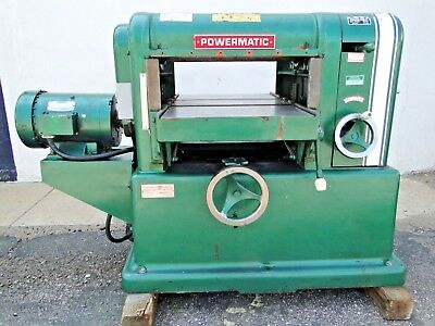 18 Powermatic Model 180 7.5hp 220v 3ph Industrial Power Wood Thickness Planer