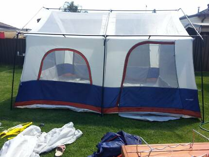 two room tent with option to become four room