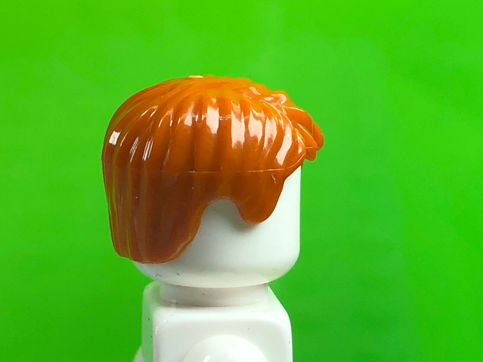 Figure Hair NEW 62810 LEGO Dark Orange Short Tousled Hair with Side Parting